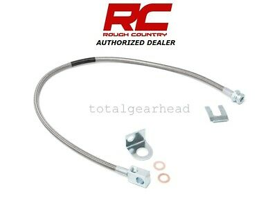 Rough Country Jeep TJ//XJ//YJ//ZJ Stainless Braided Brake Line Set 89702 /& 89703