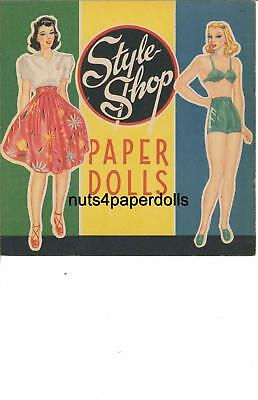 Vintage Uncut 1943 Style Shop Paper Doll Hd~Laser Org Sz Reproduction~Lo Pr