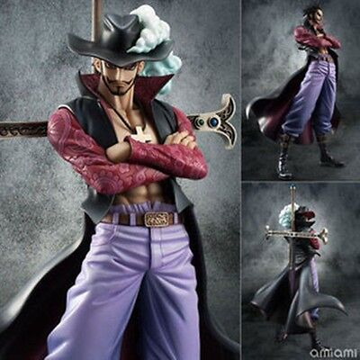 """One Piece Dracule Mihawk 9"""" PVC Figure Ver. 2 Collection New in Box"""