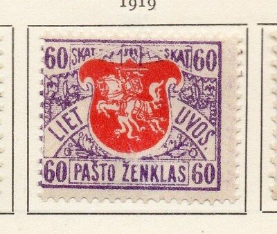 Lithuania 1919 Early Issue Fine Mint Hinged 1sk. 134350