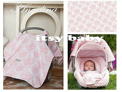 The Whole Caboodle Carseat Canopy Baby Car Seat Cover 5 Pc Set New ~ Angelina ~