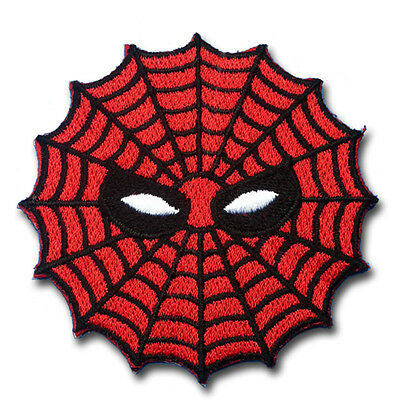 Spiderman Web Super Hero Cartoon Patch Applique Embroidered Iron on Marvel Mask
