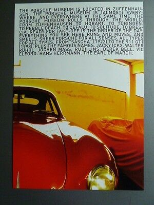 Porsche 356 Coupe Showroom Advertising Poster RARE!! Awesome L@@K