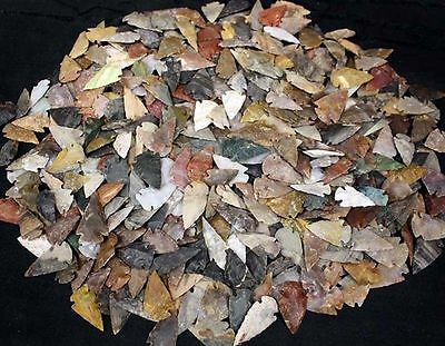 Collection of 500 Stone Arrowhead Points... High Quality...
