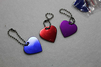 Personalized Engraved Heart Shape Pet Dog Cat Tag Id Neck-chain Ring Aluminium