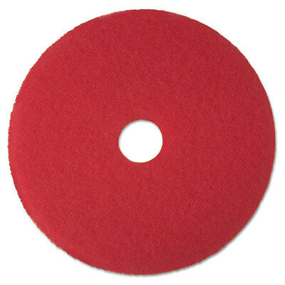 3M Buffer Floor Pad 5100, 13 In., Red, 5 Pads/Carton, CT MMM08388