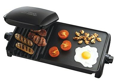 George Foreman 18603 Grill and Griddle Lean Mean Grilling Machine Large BBQ NEW
