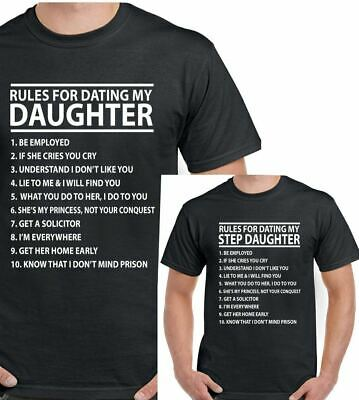 rules for dating my daughter t shirts