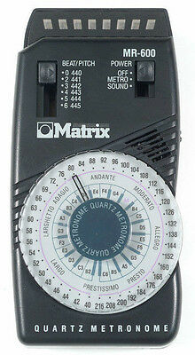 Matrix Mr600 Quartz Dial Metronome- New - with free shipping