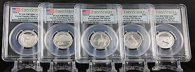 2014 S Silver Quarter Limited Edition Proof Set PCGS PR 70 DCAM First Strike