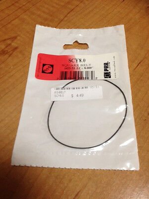 """8.0"""" IC VCR Replacement Belt - Square Cut Rubber - SCY8.0 - NEW"""