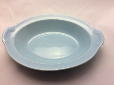 Lu-Ray Pastels Taylor Smith & Taylor Windsor Blue Oval Serving Bowl Dish 10 40
