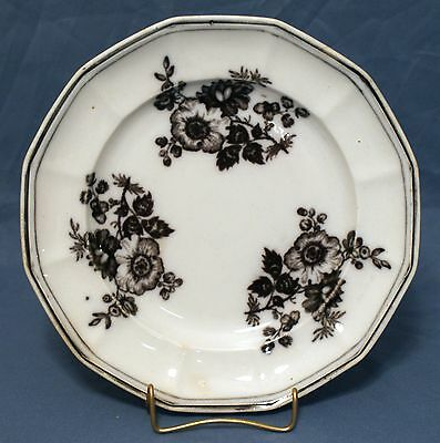 "Flow Mulberry, Ironstone, Salad Plate, ""ROSE"" By T. Walker 1845-51"