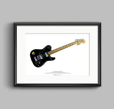 Thom Yorke's 1972 Telecaster Deluxe guitar ART POSTER A2 size