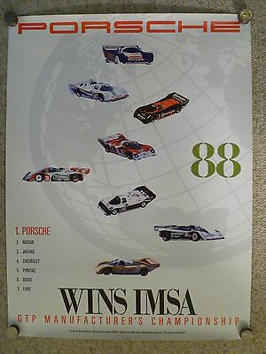 1988 Porsche 962 IMSA GTP Victory Showroom Advertising Poster RARE! Awesome L@@K