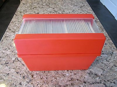 Vintage Better Homes And Gardens Recipe Cards In Orange Plastic Box 70's 80's