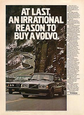1981 Volvo GLT Automobile Magazine Advertisement