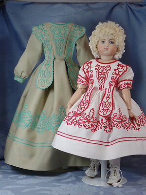 "Pattikins Kit:  Nicolette's Huret Style Dress for 12""  French Fashion Doll"
