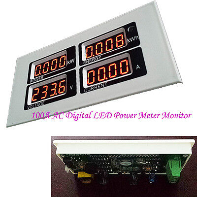 Digital 100A LED Voltage KWh Time Watt Voltmeter Ammeter Power Monitor Meter