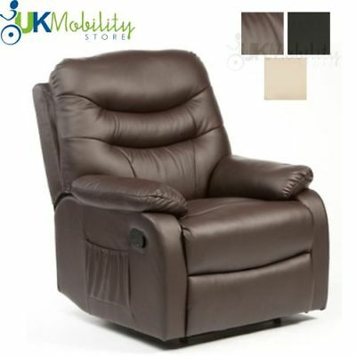 Hebden Manual Leather Recliner Chair