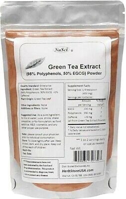 NuSci Pure Green Tea Extract Powder 50% EGCG 100g (3.52 oz)