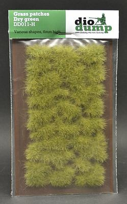 DioDump DD011-H 6mm realistic grass patches DRY GREEN diorama scenery