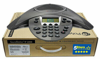 Polycom SoundStation IP 6000 VoIP Conference Phone PoE (2200-15600-001) - NEW