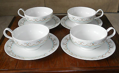 Iroquois Inheritance Fine China Cotillion 4 Cup and Saucer Sets