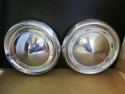 "Vintage 1955 Chevy 10"" Hubcaps / Rat Rod Style"