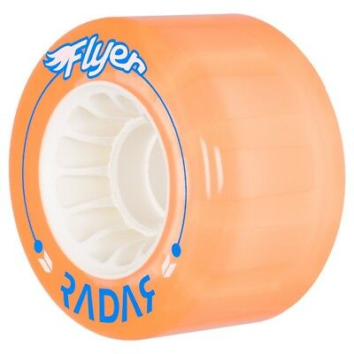 Peach 8 Pack Riedell Radar Flyer Outdoor Quad Roller Skate Wheels w/ Shark Hub