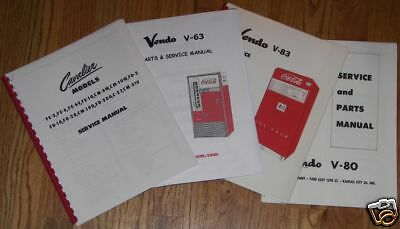Coca-Cola Vendo Machine Service and Parts Manual, V-80, V-144, V-216 Models