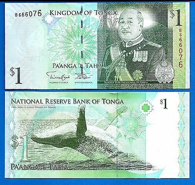 Tonga P-37 One Pa'anga Year ND 2009 Unc. Banknotes Whale SHIPPING .99 CENTS