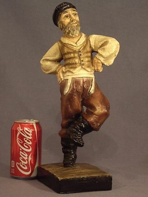 VTG RARE FIDDLER ON THE ROOF 1971 ESCO CHALKWARE FIGURE STATUE SCULPTURE