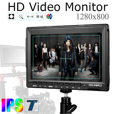 US Shipping Feelworld FW759 7 Inches HD IPS 1280x800 Field Monitor HDMI Input
