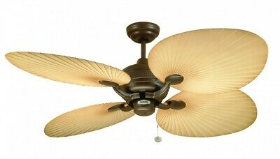 Fantasia Palm IP54 Outdoor Ceiling Fan 52in Chocolate Brown