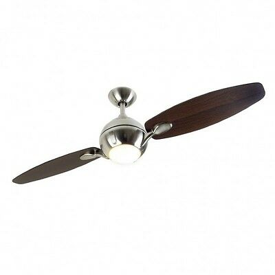 Fantasia Propeller Ceiling Fan 54 Inch Brushed Nickel With Remote