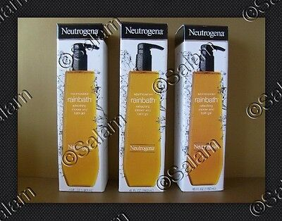 LOT 3 Neutrogena Refreshing Rainbath Shower Bath Gel Original Formula 40oz Each