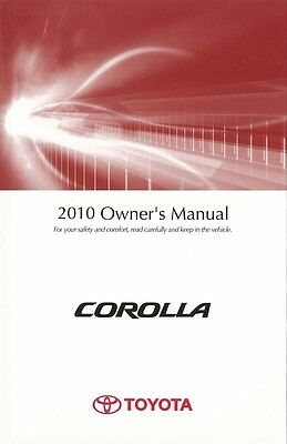 2010 Toyota Corolla Owners Manual User Guide Reference Operator Book Fuses Fluid