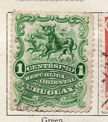 Uruguay 1901 Early Issue Fine Used 1c. 135235