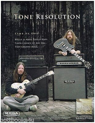 Mesa Amps - Lamb of God - Willie Adler & Mark Morton  - 2012 Advertisement