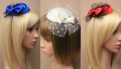 Satin Pillbox Headband Aliceband Hat Fascinator Wedding Ladies Day Race Ascot