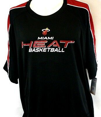 4fa8adb92 NEW Mens MAJESTIC Miami HEAT On Court Big and Tall Black NBA Shooting Shirt