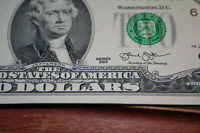 District F { 6 } 2013 $2 Frn Notes Cu New In Sequence The Newest Made Low# 000