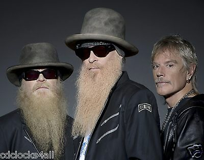 ZZ Top / Dusty Hill & Billy Gibbons & Beard 8 x 10 / 8x10 GLOSSY Photo Picture