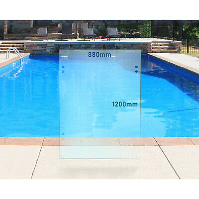 Frameless 10mm Glass Pool Fencing 880mmW x 1200mmH Gate Panel