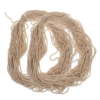 2x 30M Cotton 3mm Soft Braided Sash Rope Piping Cord DIY Craft Natural Beige