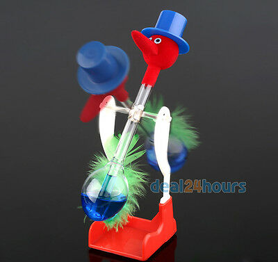Retro Glass Drinking Bird Duck Bobbing Dippy Lucky Toy Einstein Novelty Gift