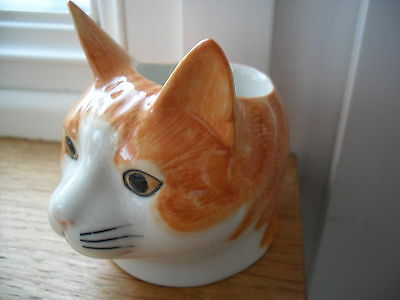 Delightful  Cat  Ceramic Egg Cup By Quail Pottery Boxed