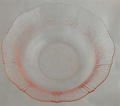 1930's AMERICAN SWEETHEART Large Fruit Bowl Pink Depression Glass Serving