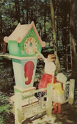 Hickory Dickory Dock Clock at Story Book Forest in Ligonier PA Postcard